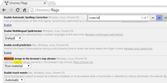 How to Enable Googles Material Design in Chromes Desktop Browser – Material List