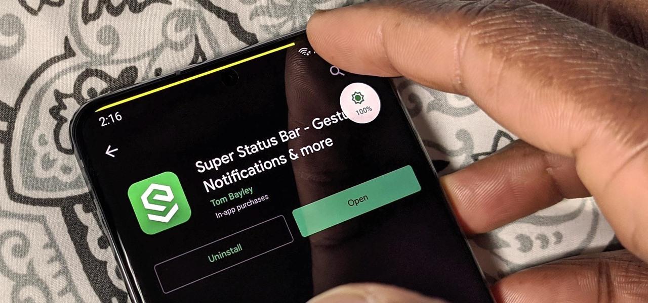 Get CyanogenMod's Old Swipe to Adjust Brightness Gesture in Your Status Bar