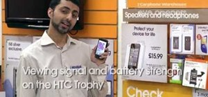 View your signal strength on an HTC 7 Trophy Windows Phone 7 smartphone