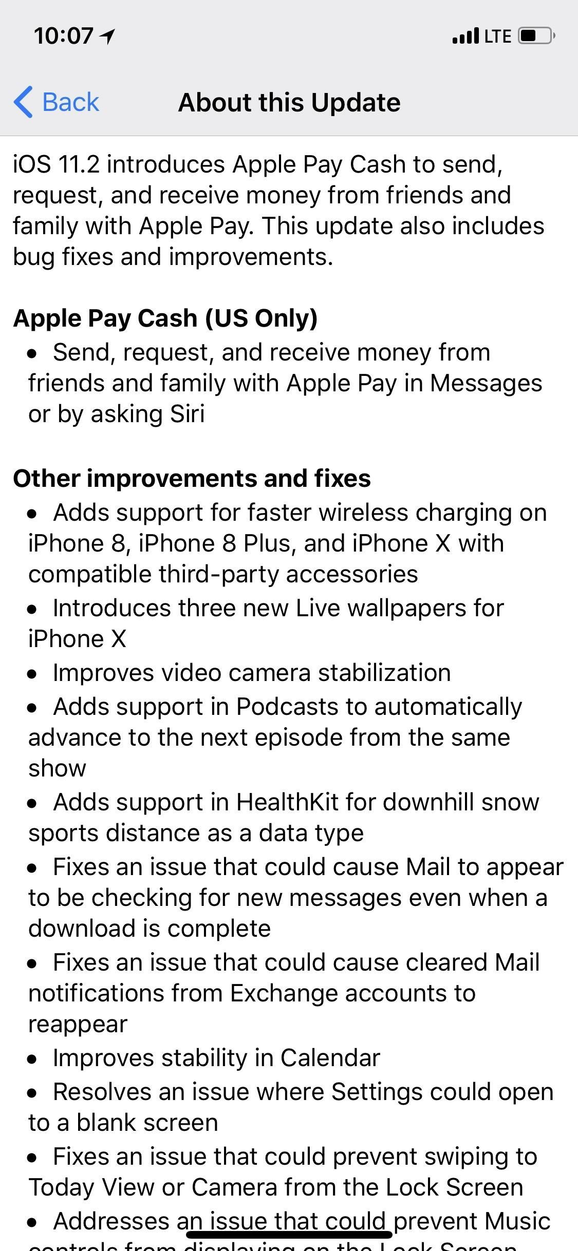 iOS 11.2 Released to the Masses with Bug Fixes, Apple Pay Cash & More New Features