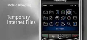 Clear temporary internet files from your BlackBerry