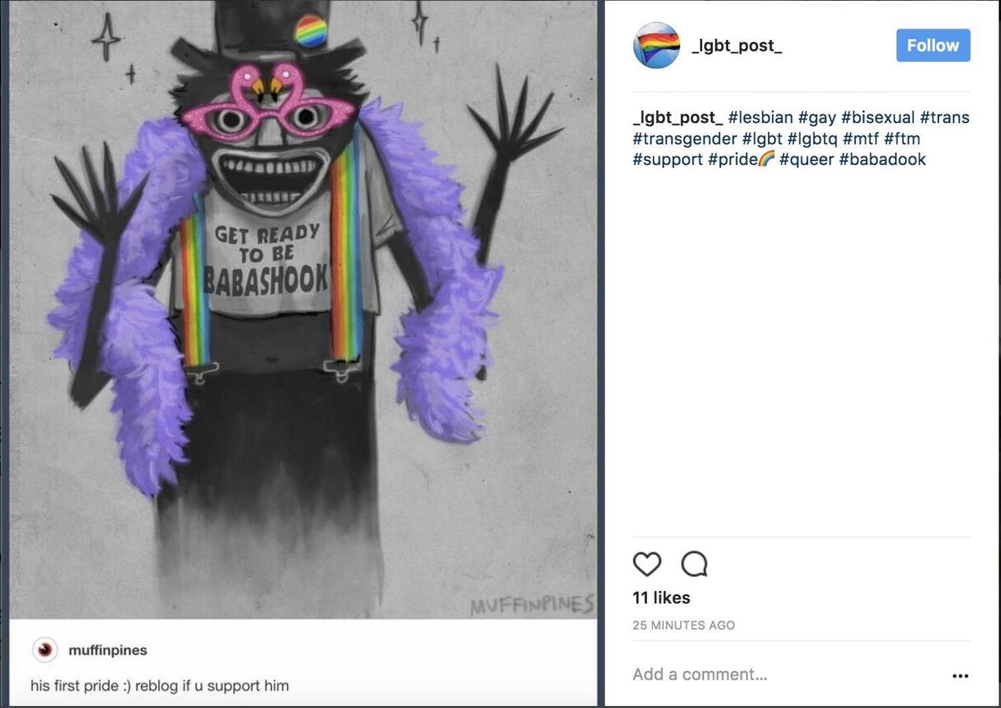 This Week on Instagram: Babadook Dresses Up for Pride