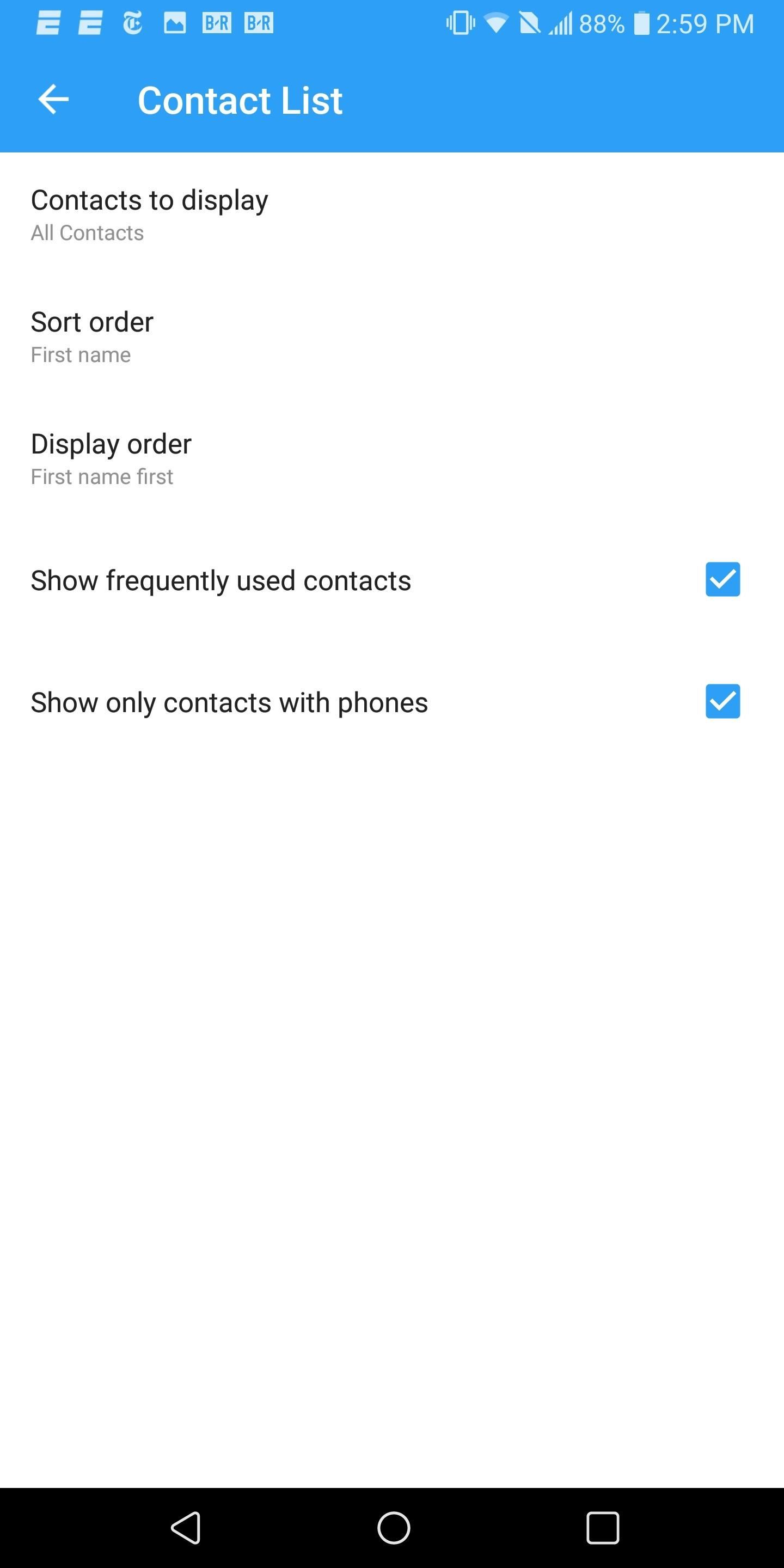 How to Hide Contacts No Phone Numbers on Android
