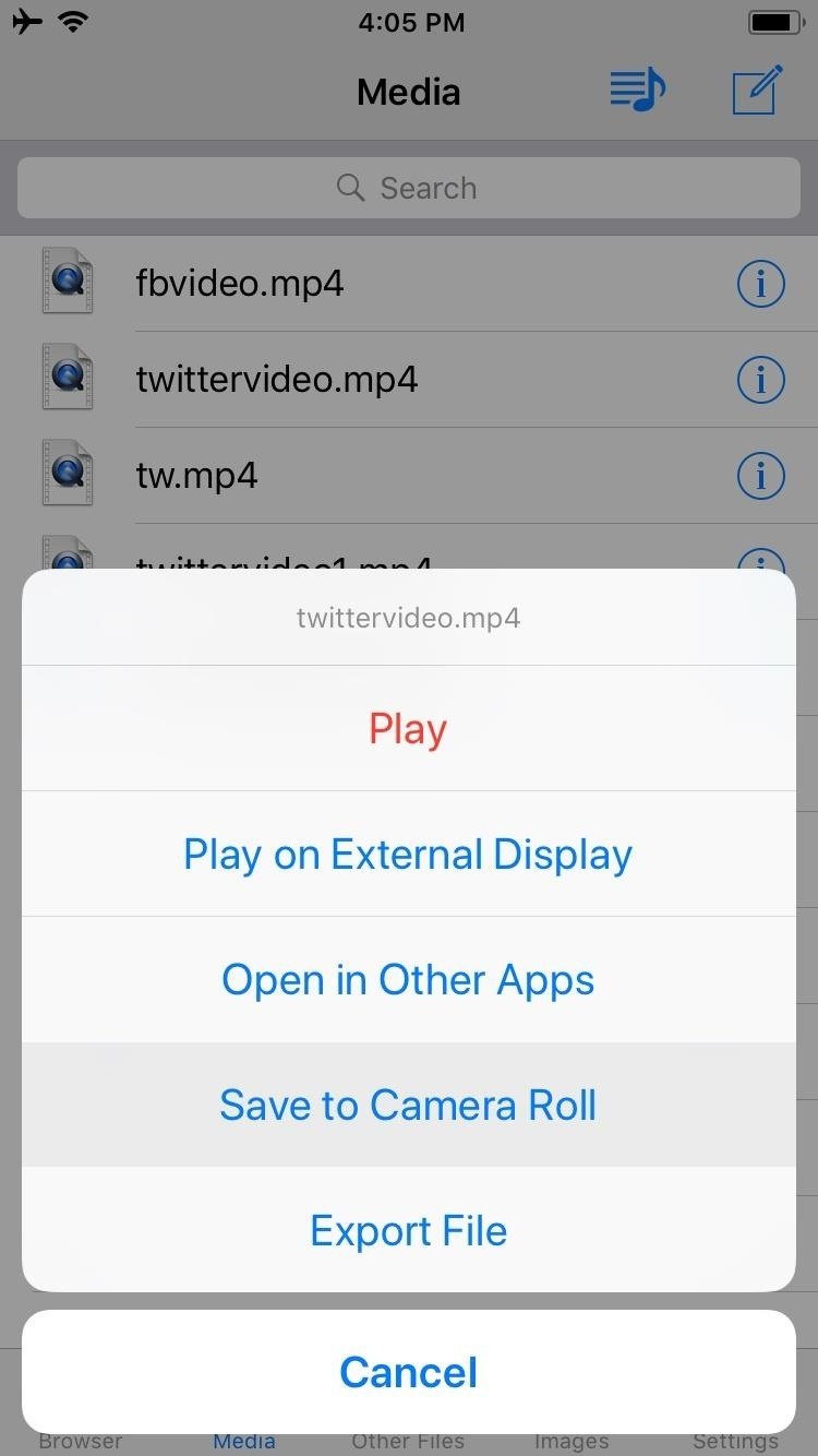 download mp4 to iphone camera roll