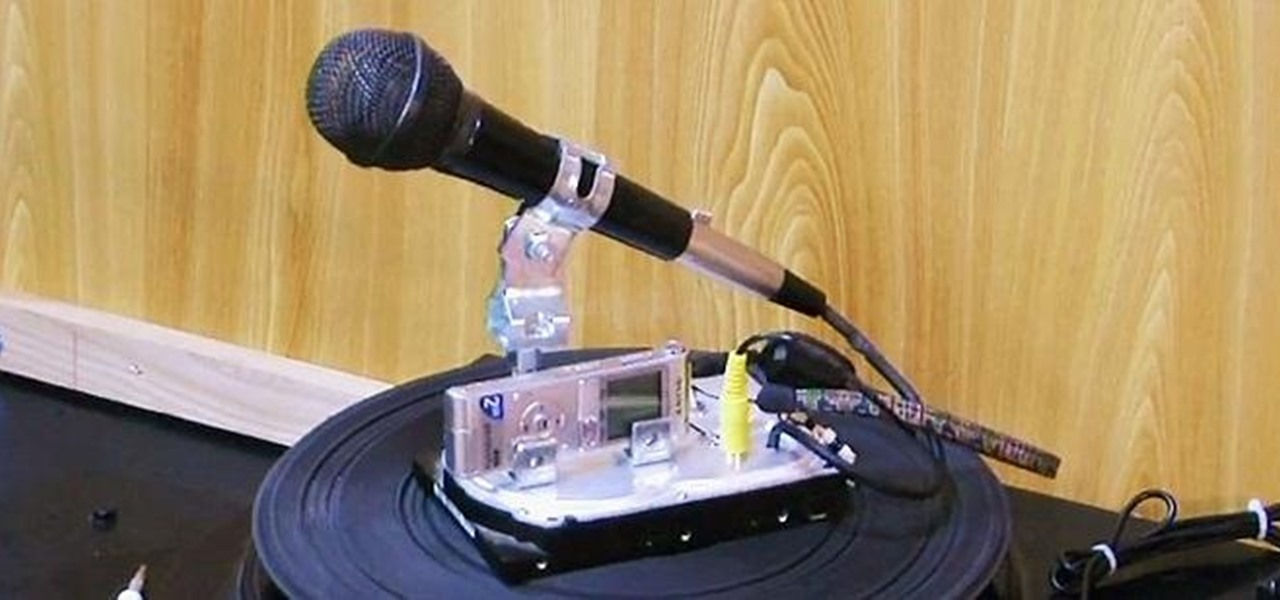 Make a Dynamic Mic and Sound Recorder Stand from an Old Hard Drive