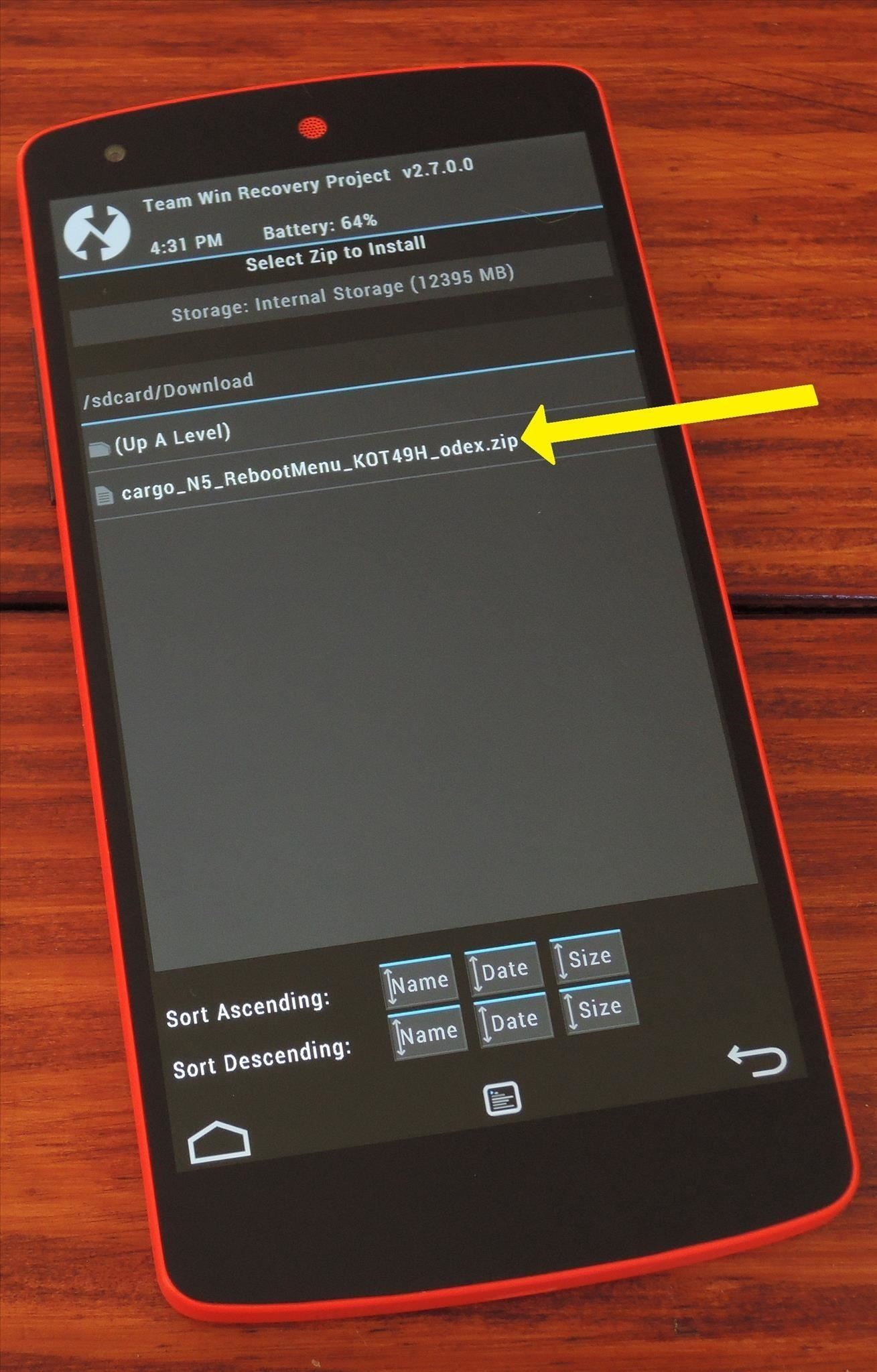 "How to Add a ""Reboot into Recovery"" Option to Your Nexus 5's Power Menu"