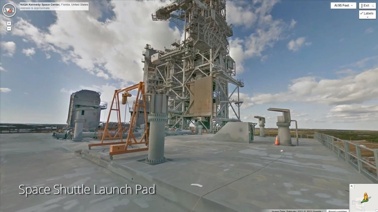 Explore the Kennedy Space Center Online with Google Street View