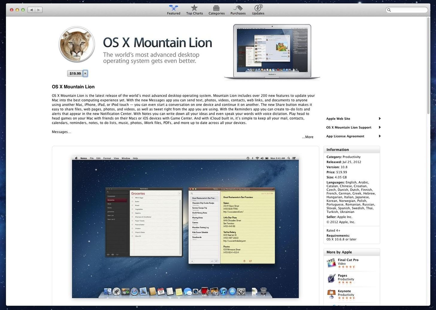 Will Installing OS X Mountain Lion Break My Apps?
