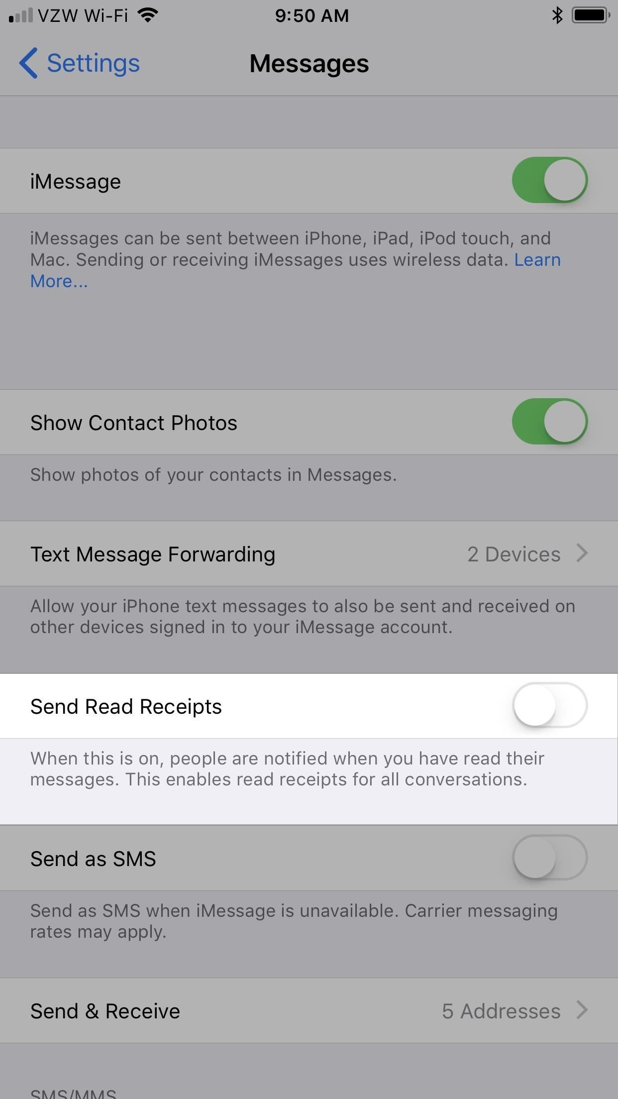 Messages 101: How to Enable & Disable Read Receipts for