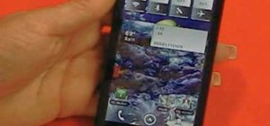 Manage widgets and icons on a Motorola Droid X smartphone