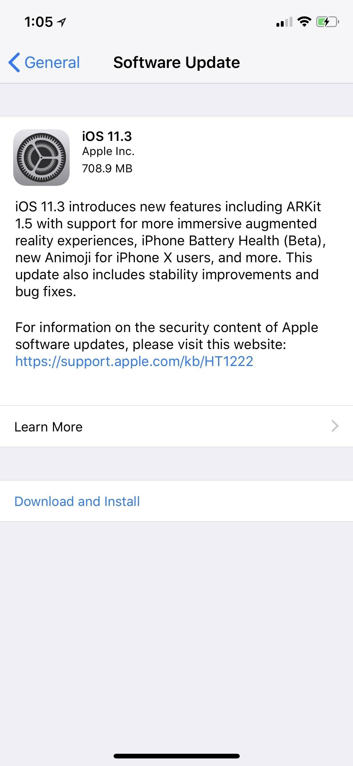 iOS 11.3 Released with Battery Health Tools for iPhones, Health Records, New Animoji & More