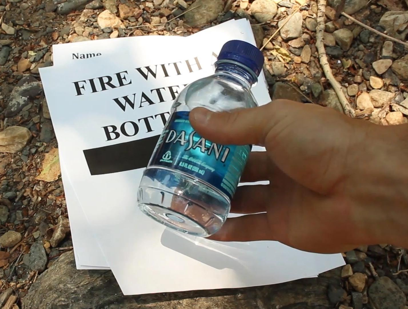 How to Start a Fire with Your Water Bottle