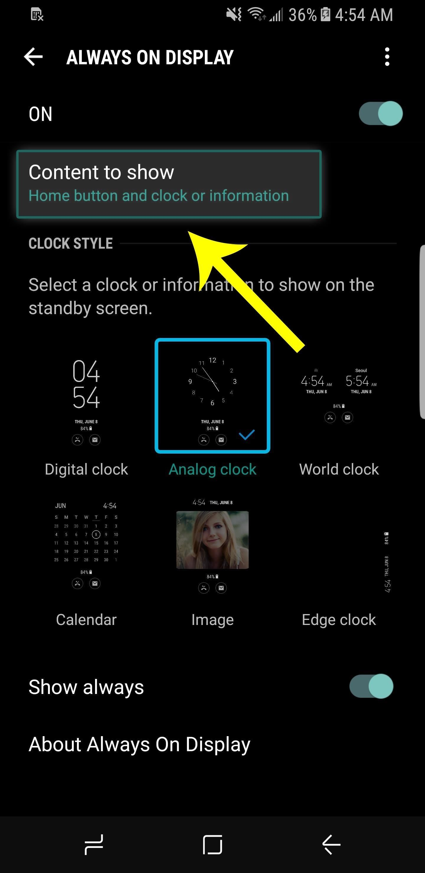 Hide the Home Button on Your Galaxy S8's 'Always On Display' Screen