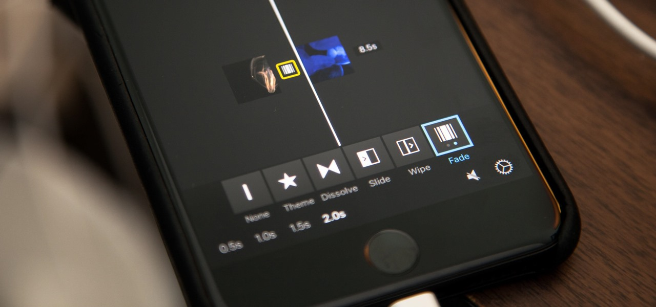 Add Fade-Ins, Fade-Outs & Fade-Through Transitions to iMovie Projects on Your iPhone
