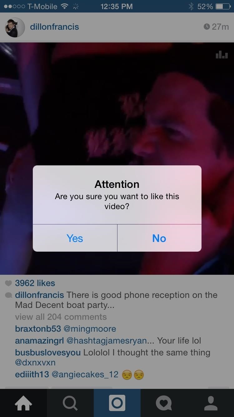 Stop Accidentally Liking Photos & Videos in Instagram's iPhone App