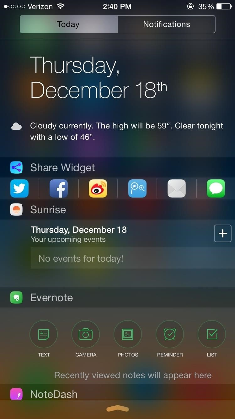 notification center iphone the 10 best notification center tweaks for your iphone 12723