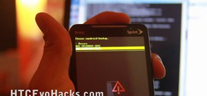 Back up and restore the NAND on an HTC Evo 4G phone