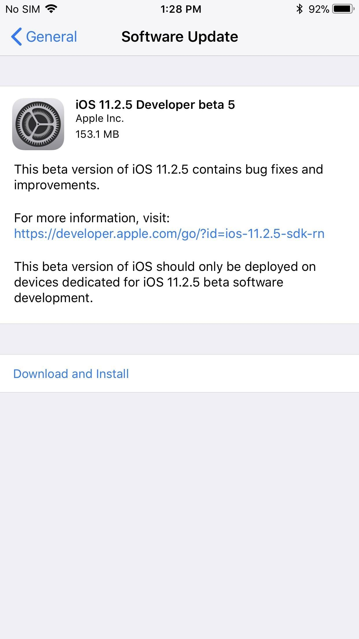 iOS 11.2.5 Beta 5 Released for iPhones with Under-the-Hood Improvements Only