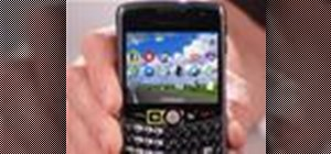 Use the GPS navigating system on a Blackberry Curve