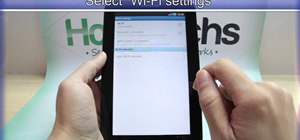 Set up a Wi-Fi connection on the Samsung Galaxy Tab