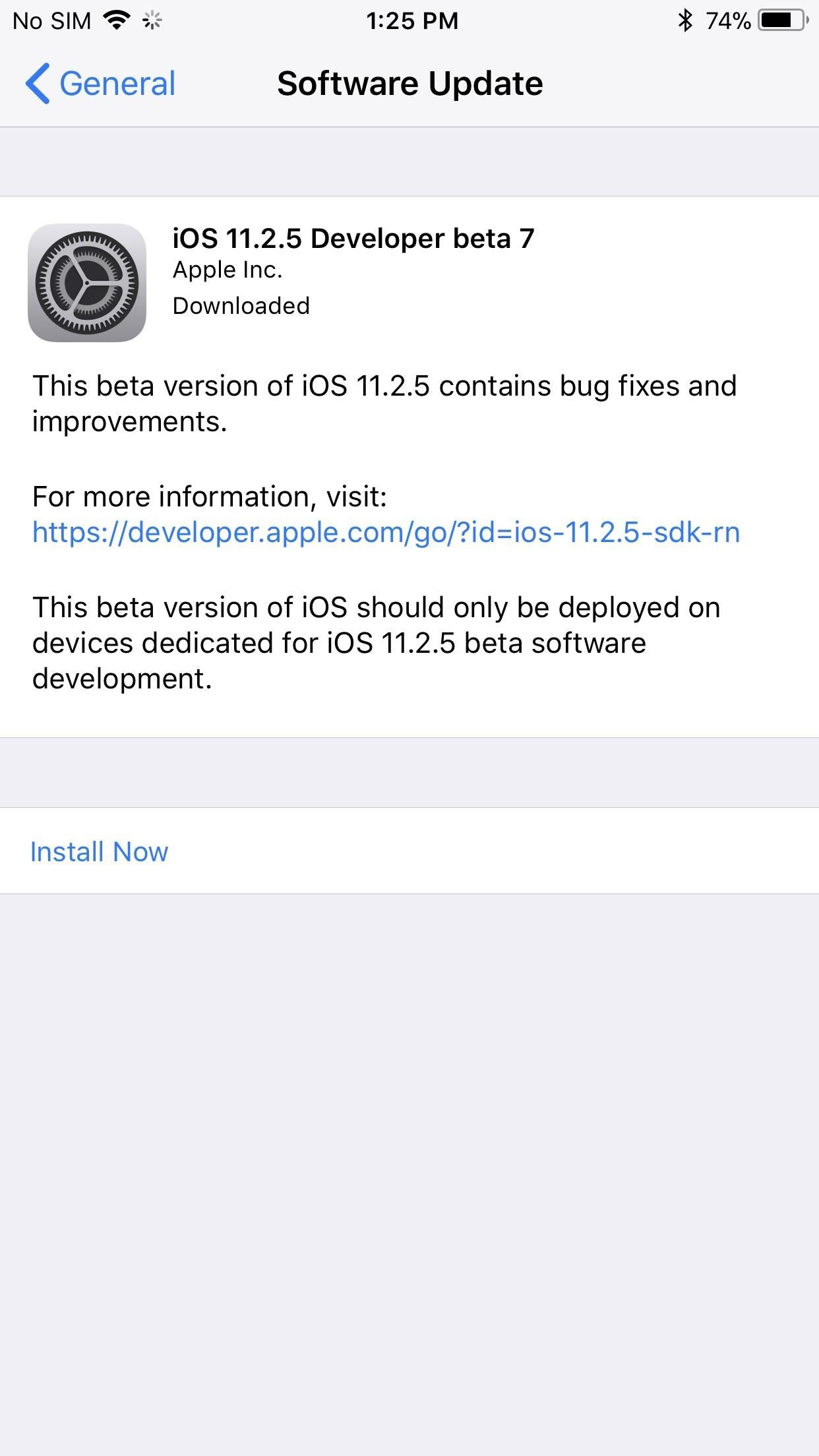 iOS 11.2.5 Beta 7 Released, Expect Public Version Early Next Week