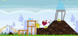 Beat level 9-3 of Angry Birds with three stars