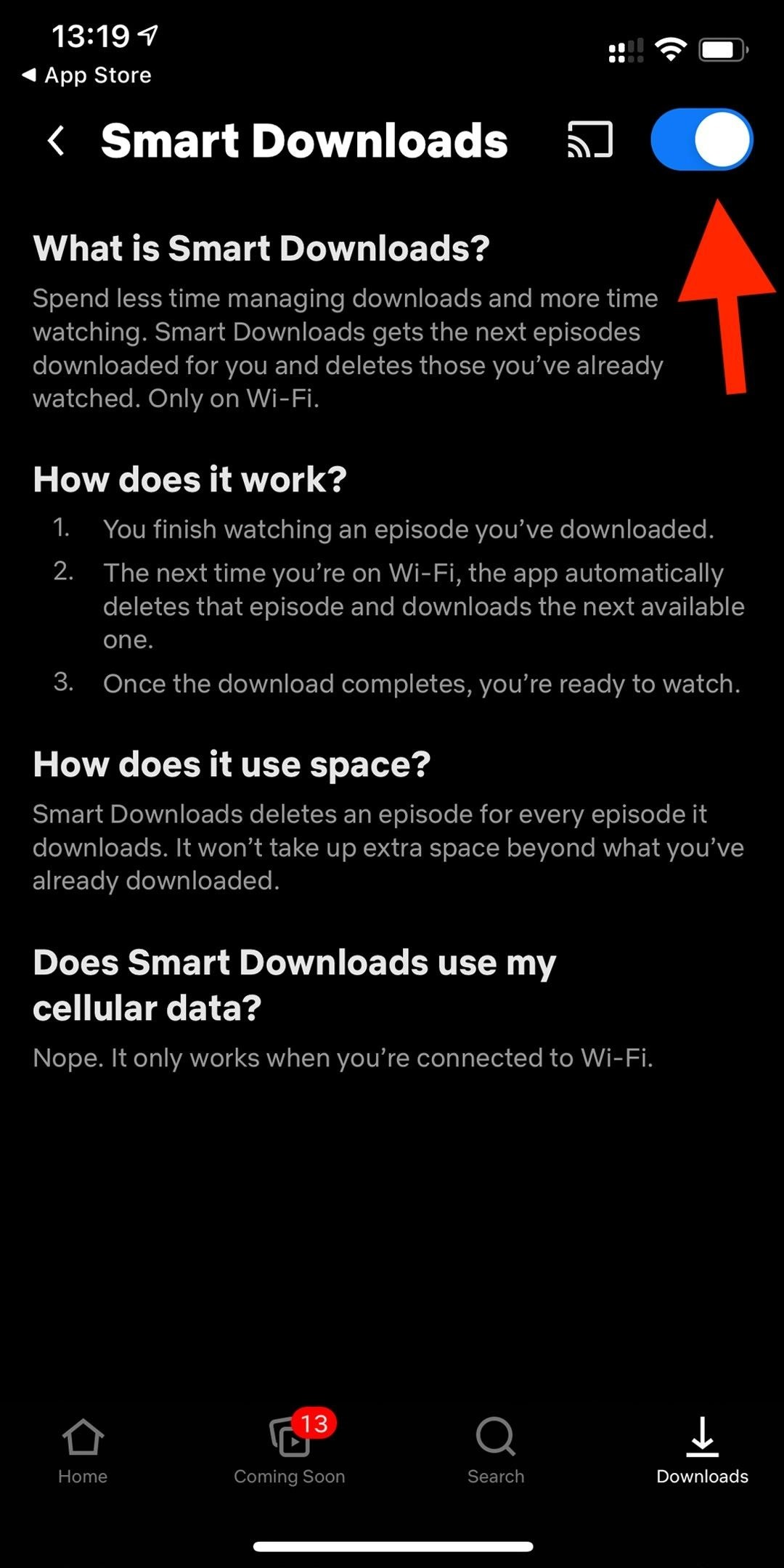 How to automatically download the next episode of a show on Netflix after watching the previous one