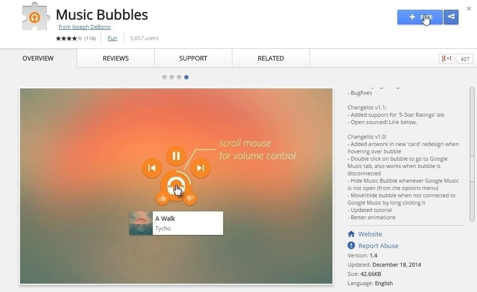 Control Google Play Music from Within Any Webpage in Chrome