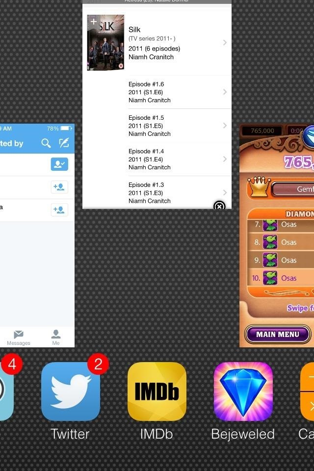 The Fastest Way to Roll Through Multitasking Cards in iOS 7.1