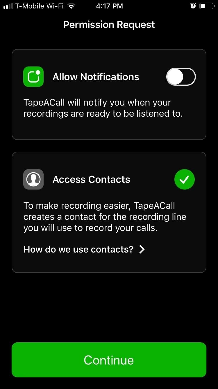 TapeACall lets you record phone calls to your iPhone