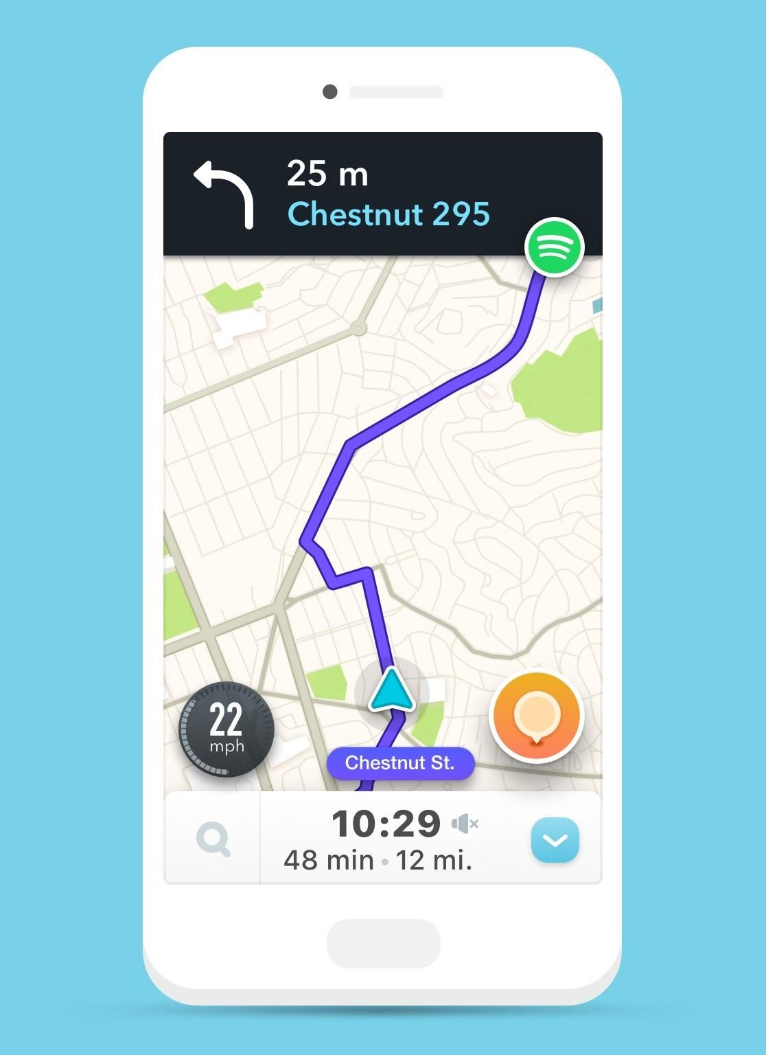Waze & Spotify Team Up for Easy Access to Music While You Drive