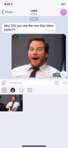 How to use telegram GIF and sticker search to find a perfect chat response Chat