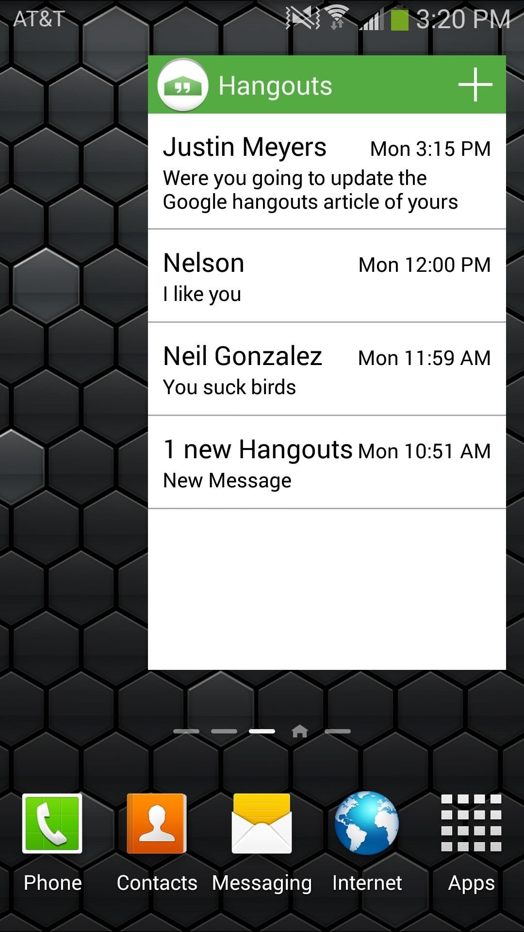 How to Preview New Google Hangout Messages from the Home Screen on Your Galaxy Note 3