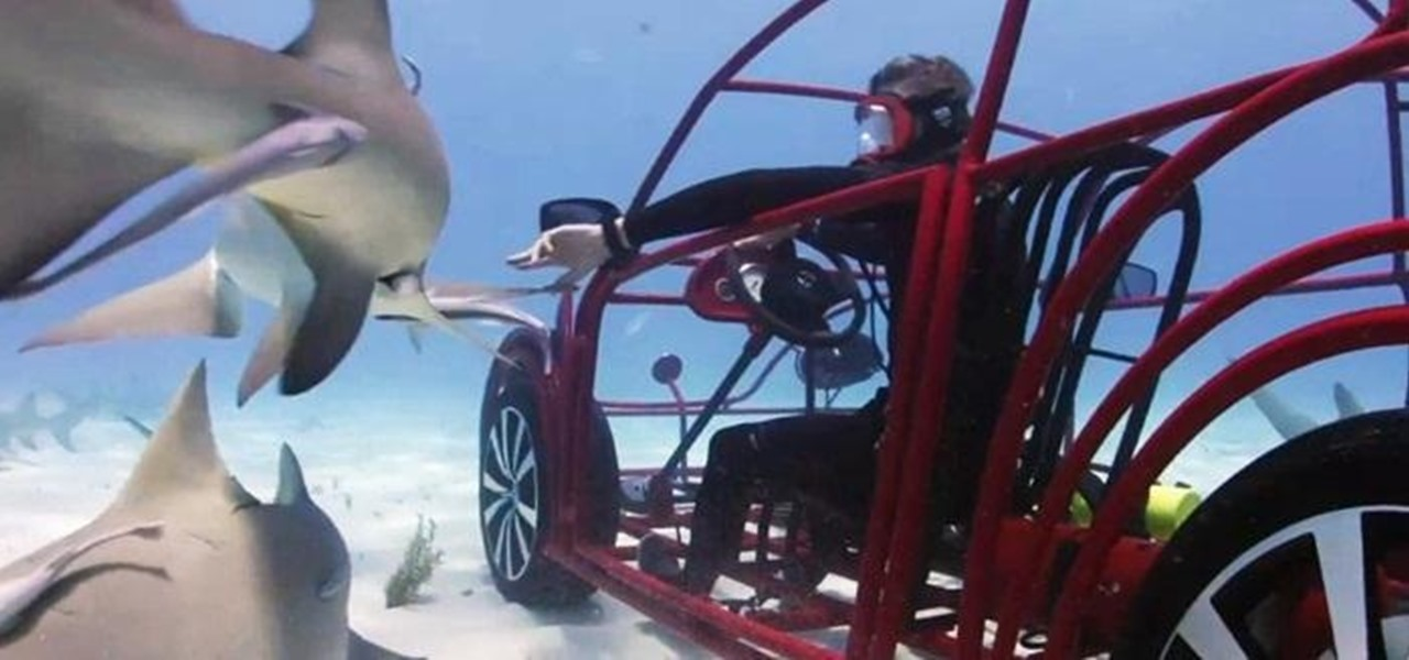 Volkswagen's Underwater 'Car' Cage Lets Divers Get Up Close and Personal During Shark Week