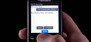 Manually connect to a WiFi network on a BlackBerry Pearl 3G phone