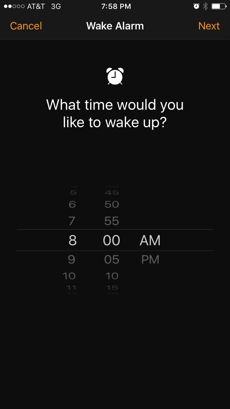 At This Point, The App Will Ask You How Many Hours You'd Like To Sleep Each  Night This Is A Pretty Important Aspect Of Wake Alarm, So Give It Some  Thought,