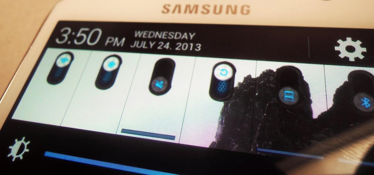 Customize Quick Settings Toggles with Colors, Photos, & New Icons on a Samsung Galaxy Note 2