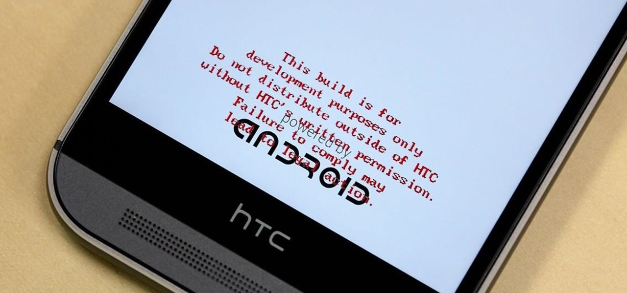 "Get Rid of the Annoying Red ""Development Build"" Text on Your HTC One M8's Bootsplash"