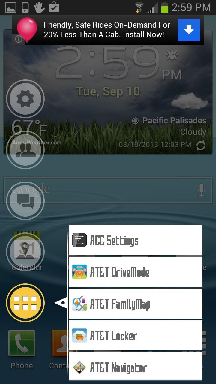 How to Add a Gesture-Based Launcher on Top of Your Samsung Galaxy S3's Current Launcher