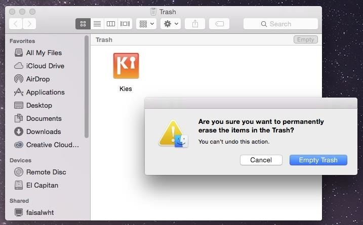 How do i delete an app off my mac