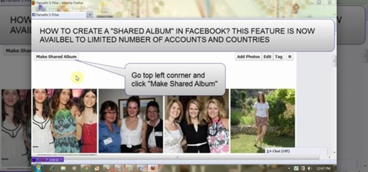 Create a Shared Album on Facebook