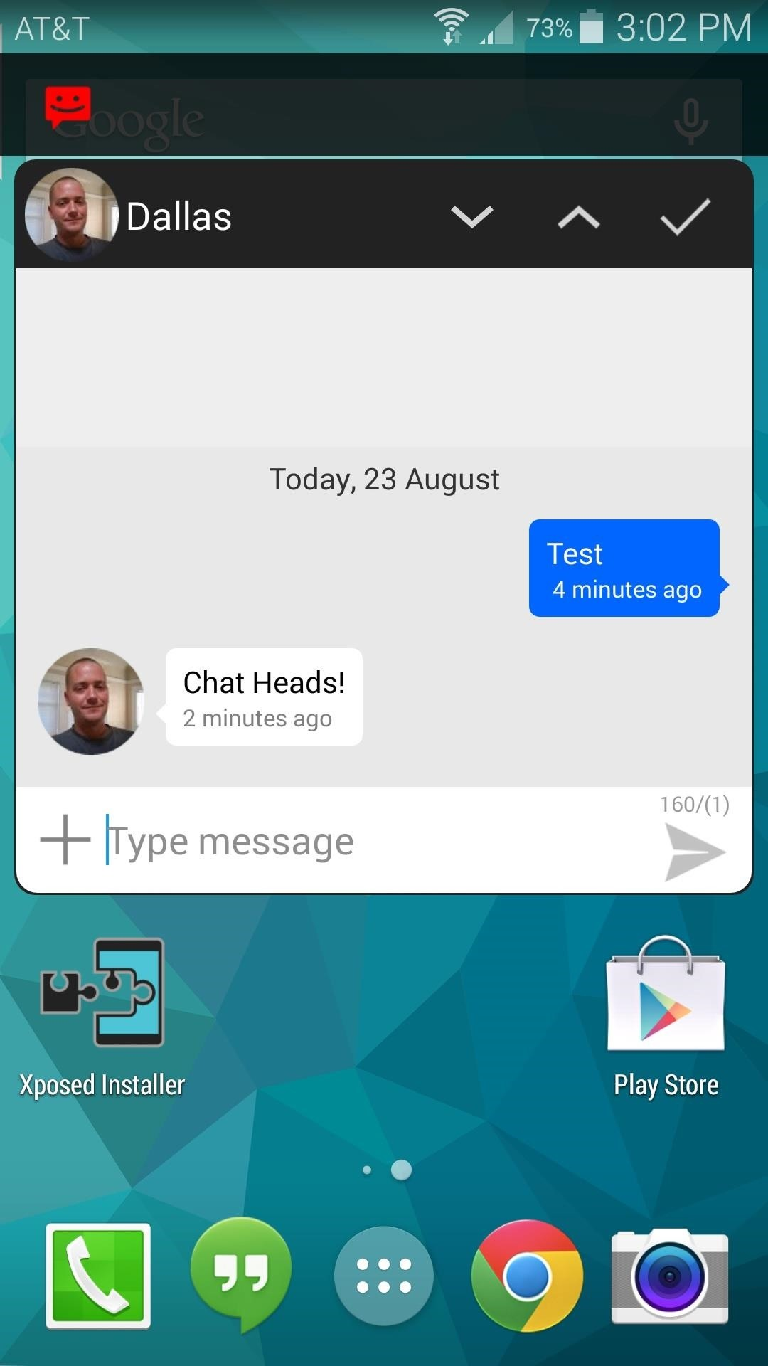 "Get Text Messages in Facebook-Style ""Chathead"" Bubbles"