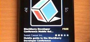 Use the application center on a Blackberry Storm 2