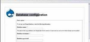 Install the drupal framework