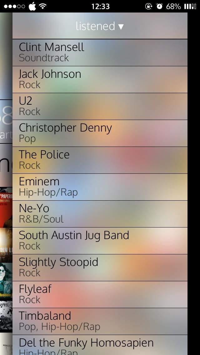 Breakdown Your iPhone's Music to See What Albums, Artists, Songs, & Genres You Listen to Most