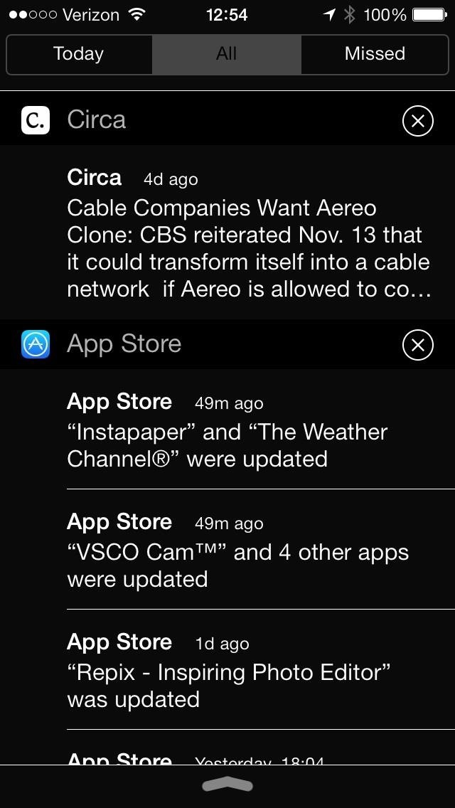 This Also Darkens The Notification Center