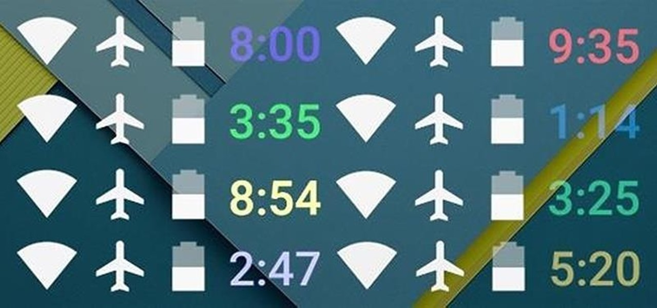 Make Your Android's Status Bar Clock Change Colors Throughout the Day