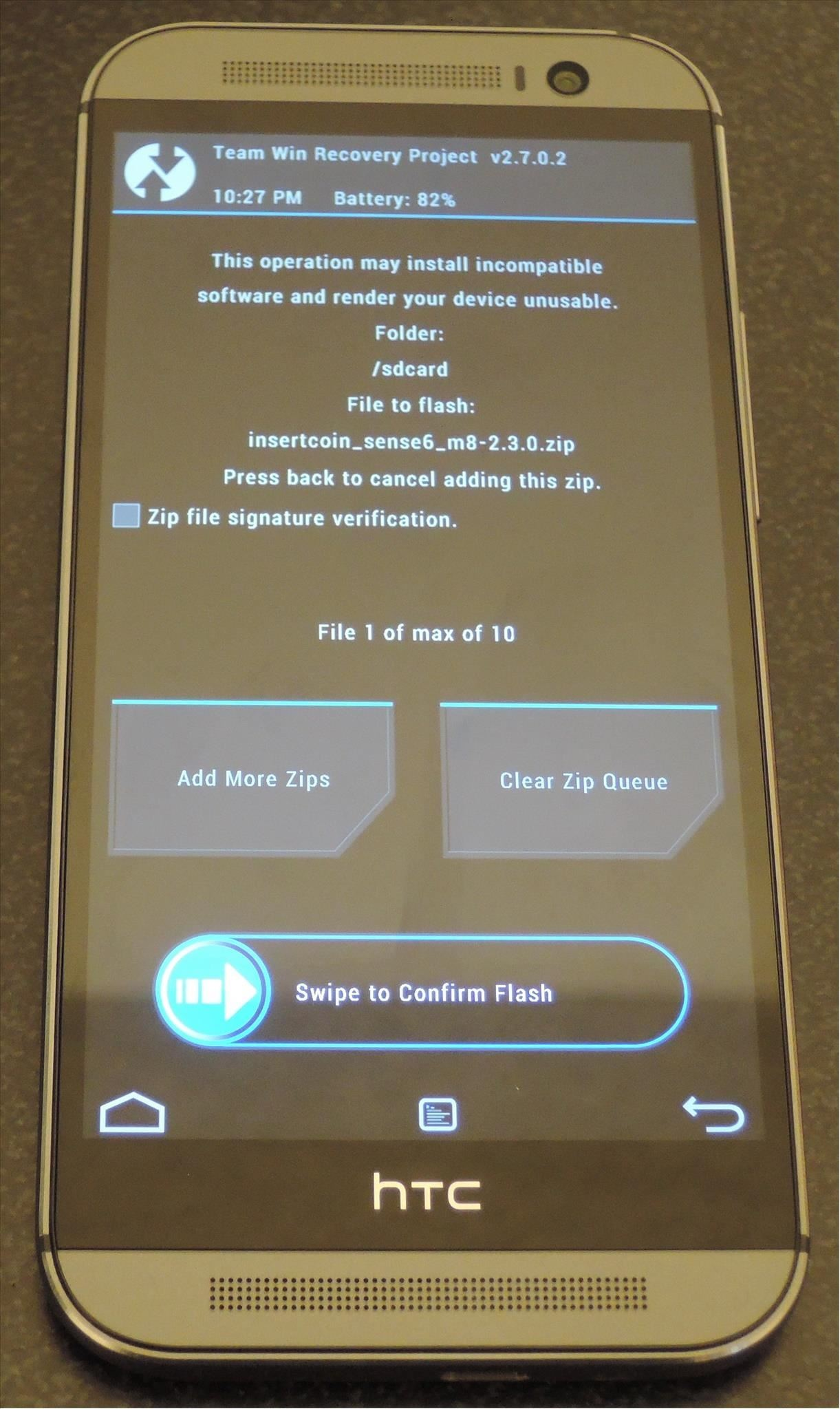 Updating htc one m8 firmware