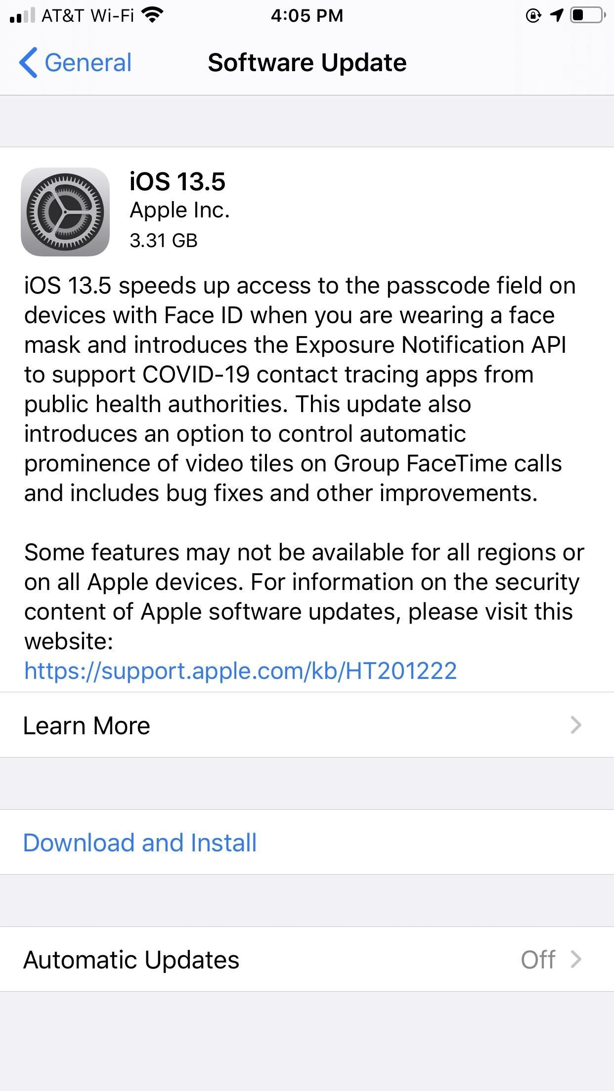 Apple Releases iOS 13.5 for Public Beta Testers, Includes Updates to Face ID, COVID-19 Exposure Notifications & More