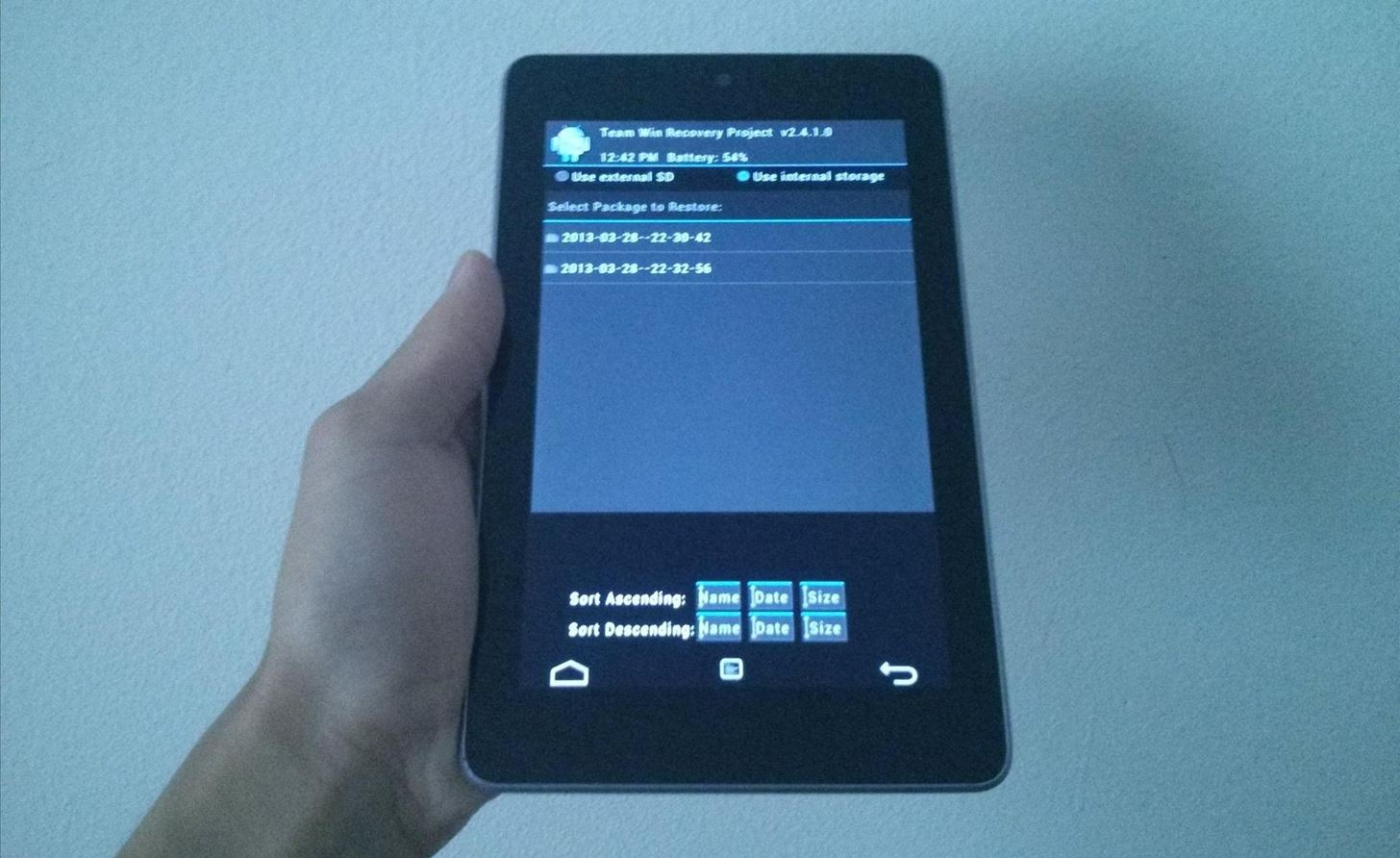 The Definitive Guide on How to Restore Your Nexus 7 Tablet (Even if You've Bricked It)